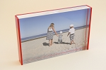 Red or White Back Acrylic Photo Mount Block 4