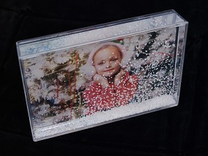 Acrylic Photo Mount Block with Snow & Glitter 4