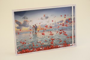 Photo Mount Block with Heart Floaters 4